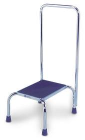 AMG Medical 116-470 STEP ON STOOL WITH CHROME HAND RAIL