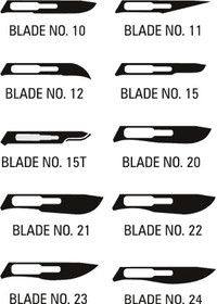 AMG 500-011 LANCE STAINLESS STEEL SCALPEL BLADES SIZE 11 STERILE, #3 FITTING BX/100