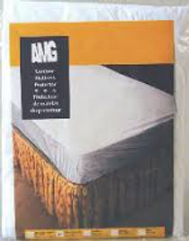 AMG 745-450 VINYL MATTRESS PROTECTOR, ZIPPERED, TWIN