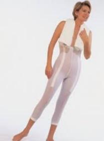 "BSN-110668 PLASTIC SURGERY GIRDLE, FEMALE, LONG LEG, LG (29""-30""), WHITE"