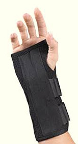 BSN-22461MDBLK SILVER LABEL PROLITE WRIST AND THUMB SUPPORT MD (FITS 6 1/2-7 1/2), LEFT, BLACK