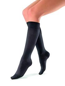 BSN-7456829 PR/1 JOBST SOSOFT WOMEN, KNEE HIGH, 15-20MMHG, XL, RIBBED BLACK, CLOSED TOE
