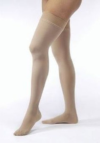 BSN-7544008 PR/1 JOBST ULTRASHEER WOMEN, THIGH HIGH W/SIL DOT BAND, 20-30MMHG, MD, SUN BRONZE, CLOSED TOE