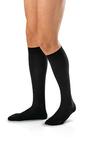 BSN-7766901 PR/1 JOBST AMBITION MEN, KNEE HIGH, 30-40MMHG, 2 REGULAR, BLACK, CLOSED TOE