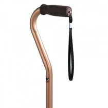 Carex A72800 ADJUSTABLE ALUMINUM CANE WITH OFFSET HANDLE BRONZE (NON-RETURNABLE) (Carex A72800)