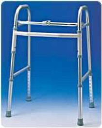Carex A857C0 ADULT SINGLE BUTTON FOLDING WALKER (Carex A857C0)