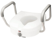 Carex B311CO E-Z LOCK RAISED TOILET SEAT W/ PADDED Adjustable ARMS