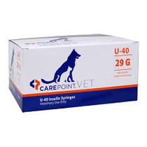 "CAREPOINT 12-7903 (CS/5) BX/100 CAREPOINT VET INSULIN SYRINGES, U-100, 3/10CC, 29G, 1/2"" (12MM)"
