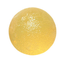 FAB 101491 CANDO GEL HAND EXERCISE BALL, YELLOW, EXTRA LIGHT STRENGHT (FAB 101491)