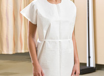 """GM 221 CS/50 DISPOSABLE WHITE EXAM GOWNS, SIZE 30 X 42"""""""