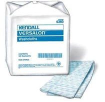 Kendall 6360 (CS/4BG) 125EA/BG VERSALON BLUE WASHCLOTH, 9 3/IN X 13""