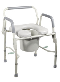 Commode Drop Arm Padded Seat KD (2711)