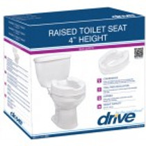 """Drive Medical 12062 Raised Toilet Seat 2"""" without Lid"""