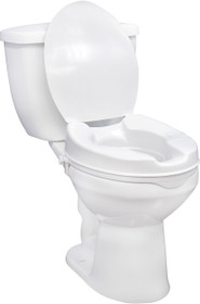 "Drive Medical 12065 Raised Toilet Seat 4"" with Lid"