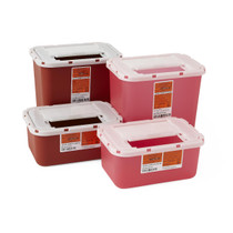 Medline MDS705201H SHARPS BIOHAZARD CONTAINER 1GA RED, WALL-FREE