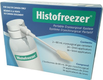 OraSure 2879100580 HISTOFREEZER PORTABLE CRYOSURGICAL SYSTEM 2-80ML CANNISTERS WITH 24-2ML TIPS, 36-5MM TIPS