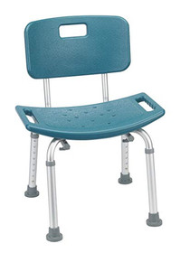 Bath Seat w/Back KD Retail Teal (2752)