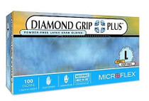 Microflex® Diamond Grip Plus 350L latex, Powder-Free, Large (CS10)