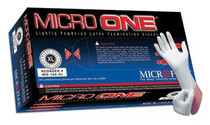Micro One® MO-150XS Latex Lightly-Powdered Gloves - X-Small BX/100 (MED FMO 150XS)