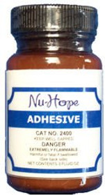 Nu-Hope 2400 LIQUID ADHESIVE W/APPLICATOR 4OZ BOTTLE (NON-RETURNABLE) (Nu-Hope 2400)