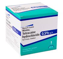 OC 90810 MINIMS TETRACAINE HYDROCHLORIDE EYE DROPS 1% BX/10