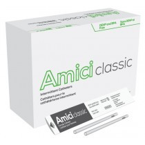 "Amici 3612 - AMICI Classic 6"" Female Intermittent Catheters, 12 Fr., Latex Free, DEHP & BpA Free PVC, No Adapter, BX 100"
