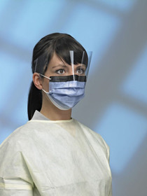 PriMed 41563 PRIMAGARD 160 PROCEDURE MASK W/ VISOR, EAR LOOP, BLUE, ANTI-FOG, ANTI-GLARE (CS/4) BX/25 (PG 41563)