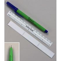 SOURCE MEDICAL 250FPRL BX/50 FINE-TIP SKIN MARKER W/ RULER AND LABELS, GREEN, STERILE