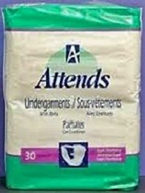 Attends 24976 Brief Belted Undergarment NON-WOVEN White CA/4x30s