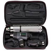 WELCH ALLYN 97150-M 3.5V HALOGEN HPX DIAGNOSTIC SET WITH RECHARGEABLE HANDLE, 23810 MACROVIEW OTOSCOPE, 11710 OPHTHALMOSCOPE AND HARD CASE.