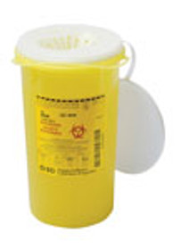 BD 300450 SHARPS Collector Funnel cap 3.0L Yellow with vertical entry (Case of 36)