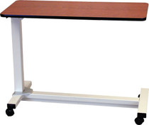 Drive Medical 13080 Bariatric Heavy Duty Overbed Table - Gunstock Walnut
