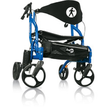 Hugo 793-943 Navigator Side-Folding Rolling Walker & Transport Chair