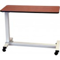 Drive Medical 13080-HONT Bariatric Heavy Duty Overbed Table - Nepal Teak