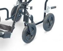 "8"" Front WHEEL- BLACK for Airgo"" 700-846 lightweight transport chair (B02-135)"