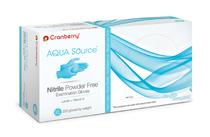CRA-CR3446 Cranberry Gloves Aqua Source Nitrile Pf Small (CRA-CR3446)
