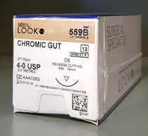 "Look 559B Suture Chromic Gut Undyed C6 4-0 27"" 12/Box"