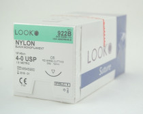 "Look 922B Suture Bk Nylon Mono C6 4-0 18"" 12/Box"