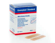BSN Medical 7259001 COVERPLAST STANDARD WATER-RESISTANT PLASTIC ADHESIVE DRESSING 7.2CM X 1.9CM BX/100 (Case of 6)