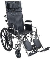 "Drive CS18RBDFA Chrome Sport 18"" Recl Back Full Arms"
