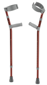 Drive FC200-2GR Pediatric Forearm Crutches - Youth Castle Red