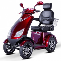 EWheels Dealers EW72 FOUR WHEEL SCOOTER (EW-72 Red) Shipping included