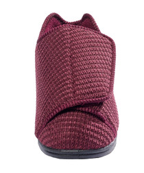 Silvert's 101000102 Womens Extra Extra Wide Width Adaptive Slippers , Size 6, WINE
