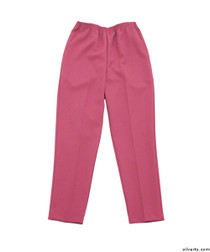 Silvert's 130900201 Womens Elastic Waist Polyester Pants 2 Pockets , Size 8, FRESH PINK