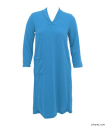 Silvert's 200700103 Womens Adaptive Open Back Dresses , Size Large, TEAL