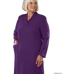 Silvert's 200700203 Womens Adaptive Open Back Dresses , Size Large, GRAPE