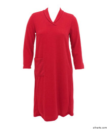 Silvert's 200700303 Womens Adaptive Open Back Dresses , Size Large, RED