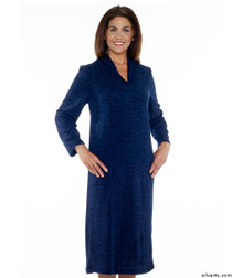 Silvert's 200700404 Womens Adaptive Open Back Dresses , Size X-Large, DENIM