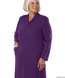 Silvert's 200700204 Womens Adaptive Open Back Dresses , Size X-Large, GRAPE