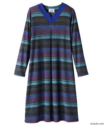 Silvert's 210200201 Stylish Wheelchair Dress For Women , Size Small, TEAL